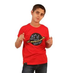 The Planet Chalkboard Tee in Red