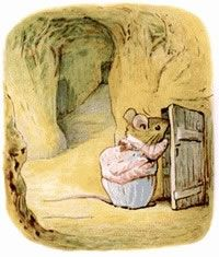Mrs Tittlemouse was a most tidy and particular mouse who lived in an immaculate maze of corridors which she kept spick and span with her dustpan and brush. Unfortunately she has visitors....'all of them uninvited!' probably my very first book, inscribed 'to Jennifer from Daddy' and always a favourite. Beatrix Potter's tender and observant illustrations are a delight.