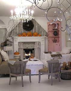 Living Room Ready for Halloween