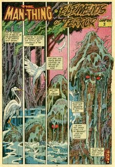 marvel comics presents Man Thing.