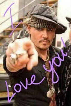 Johnny Depp giving love ❤️