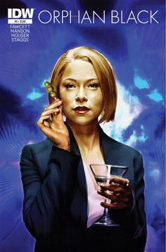 """catstaggs:Orphan Black #5—""""Rachel""""John Fawcett, Graeme Manson & Jody Houser (w) • Cat Staggs (a & c)Rachel is ruthless corporate efficiency personified. She's a clone raised self-aware of her genetic identity, occupying an elite position with the Dyad group of companies. FC • 32 pages • $3.99Coming in JUNE 2015 from IDW *Raises martini*"""