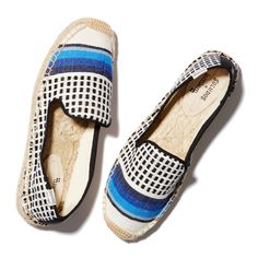 These flat-form espadrilles are the product of a design collaboration between Soludos and Lemlem & feature fabric, handmade by local artisans in Ethiopia.