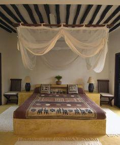 double bedroom on floor palm house shela lamu island