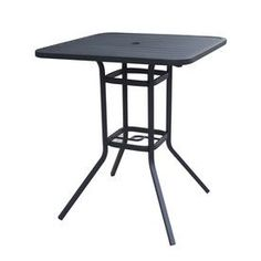 Buy Outdoor Patio Side Tables, Folding, Dk Brown Resin With Glass Top.
