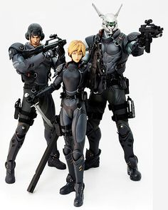 Some cool action figures from my favorite manga/anime series, Appleseed.