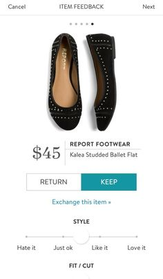 REPORT FOOTWEAR Kalea Studded Ballet Flat from Stitch Fix. I love Stitch Fix! A personalized styling service and it's amazing!! Simply fill out a style profile with sizing and preferences. Then your very own stylist selects 5 pieces to send to you to try out at home. Keep what you love and return what you don't. Only a $20 fee which is also applied to anything you keep. Plus, if you keep all 5 pieces you get 25% off! Free shipping both ways. Schedule your first fix using the link below…