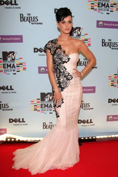 Pin for Later: How Katy Perry Transformed Her Red Carpet Style  A frothy mermaid…