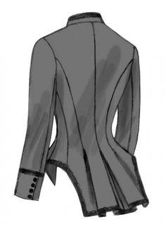 Butterick 6400 - Historisch kostuum ruiterjasje met baleinen