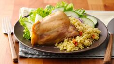 The addition of apple juice is a nice twist on this traditional honey-mustard chicken!