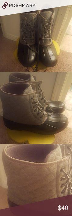 Ashley Stewart Duck Boots Ashley Stewart quilted duck boots. They are a 10W. Ashley Stewart Shoes Winter & Rain Boots