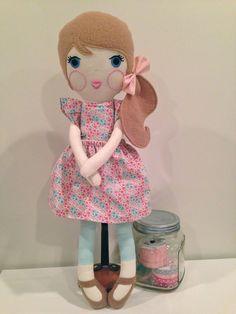 Custom Doll Handmade Doll Fabric Doll Cloth by SugarAndStripesShop
