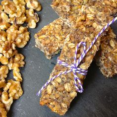Banana Nut Chia Power Bars, The Lemon Bowl--These are really good--sort of like a cross between a muffin and oatmeal. Next time I'm going to put them in a slightly larger pan; I think they need to be a tad thinner. According to The Lemon Bowl, they should keep a week, wrapped individually in the fridge.