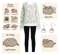 """""""Lazy Pusheen Sunday <3"""" by celiva207 ❤ liked on Polyvore featuring STELLA McCARTNEY and pusheencat"""