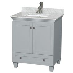 Acclaim 30 in. Single Bathroom Vanity by Wyndham Collection - Oyster Gray | Free Shipping