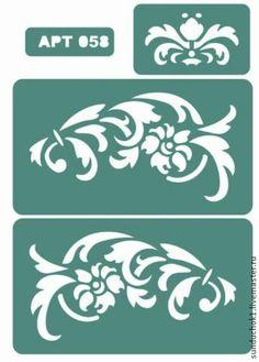 Трафарет 058 - зелёный,трафарет,трафареты,материалы для творчества,Декупаж