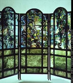 Image detail for -SHAFE | Louis Comfort Tiffany Folding Screen, c. 1900