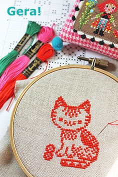 Cat Cross Stitches, Cross Stitch Charts, Cross Stitch Designs, Cross Stitching, Cross Stitch Embroidery, Cross Stitch Patterns, Crochet Cross, Knit Crochet, Japanese Books