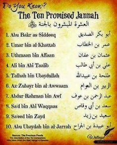 The ten promised jannah