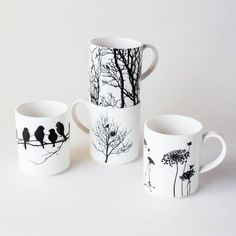 It's as if Dot and Bo is reading my mind! Absolutely perfect! Naturescape Porcelain Mugs - Set of 4   dotandbo.com #DotandBoSummer