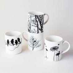 It's as if Dot and Bo is reading my mind!  Absolutely perfect! Naturescape Porcelain Mugs - Set of 4 | dotandbo.com #DotandBoSummer