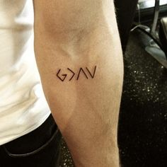 God is greater than the up and downs. If I had to get a tattoo, this would probably be it.
