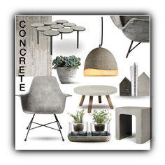 Interior - Concrete Mix by queenofsienna on Polyvore featuring polyvore interior interiors interior design home home decor interior decorating Lyon Béton Nude NLXL concrete