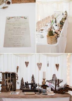 A Warm Winter Rustic Wedding With A Touch Of Glamour.
