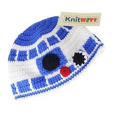 Knitwits Star Wars R2D2 Crochet Beanie (Large)