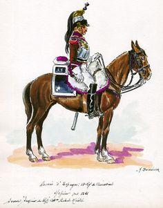 French; 13th Cuirassiers, Sous-Officier in Spain, 1811 by H.Boisselier