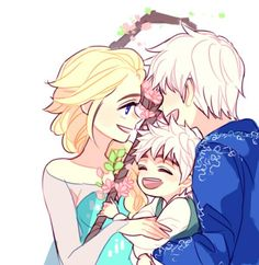 Jelsa and their son by _shushushun