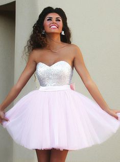 Buy New Arrival Sweetheart Short Pink Homecoming Dress with Beaded Bowknot 2016 Homecoming Dresses under US$ 122.99 only in SimpleDress.