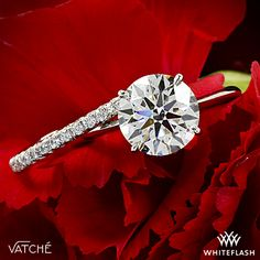 "a MATCH made in HEAVEN!  Designed to shine, the Vatche ""Serenity"" Diamond Wedding Ring has been paired beautifully with our gorgeous Vatche ""Bliss"" Solitaire #EngagementRing"