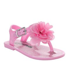 Pink Floral-Accent Sandal