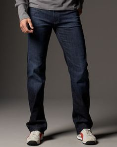 Austyn Los Angeles Stretch Jeans by 7 For All Mankind at Neiman Marcus.