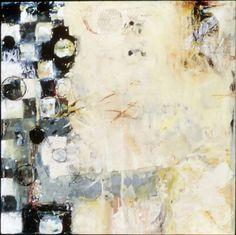 Encaustic Artist Mary Black - Encaustic Art Mixed Media on Birch Panel - Witness