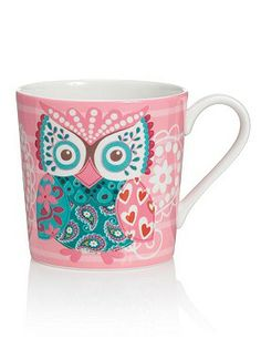 one of these would make me happy! Owl paisley mug Pinned by www.myowlbarn.com