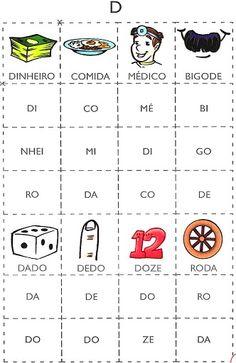 Várias cartelas com sílabas para imprimir « Saber pragmático