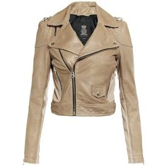 Juicy Couture Leather Biker Jacket ($1,295) ❤ liked on Polyvore