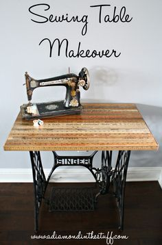 Sewing Table Makeover | A Diamond in the Stuff