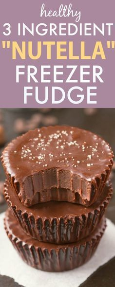 3 Ingredient 'Nutella' Fudge Cups! How yummy and simple do these look? The kids will go crazy over these!