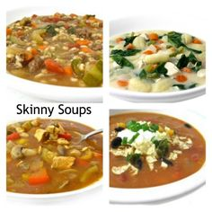 Super Satisfying, Skinny Soups. The weekend is the perfect time to make a big pot of soup to enjoy throughout the week. All freeze great! http://www.skinnykitchen.com/recipes/10-super-satisfying-skinny-soups/
