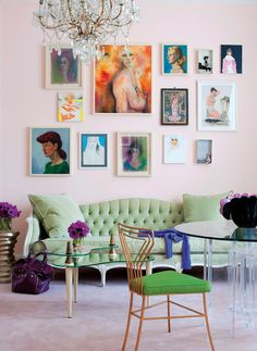 vintage chic. I love the art and the soft yet vibrant colors.