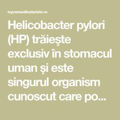 Helicobacter pylori (HP) trăieşte exclusiv în stomacul uman și este singurul organism cunoscut care poate supraviețui într-un mediu atât de acid. Cancer