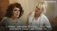 Discover & share this Ab Fab The Movie GIF with everyone you know. GIPHY is how you search, share, discover, and create GIFs. Absolutely Fabulous Quotes, Im Fabulous, Ab Fab Movie, Patsy And Eddie, Exercise For Six Pack, Joanna Lumley, Favorite Movie Quotes, British Comedy, Slimming World