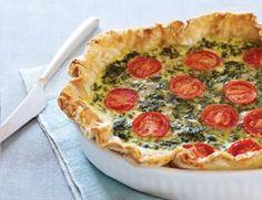 Spinach, Feta, and Tomato Quiche Recipe   Vegetarian Times