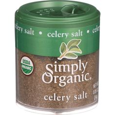 Simply Organic Celery Salt - Organic - .85 oz - Case of 6 - Many cooks consider salt a flavor enhancer; celery adds another dimension. Use this convenient blend of sea salt and ground celery seed in place of salt in most any dish.Ingredients: Sea Salt, Organic Celery Seed. Organic: 95%+ Organic Gluten Free: No Dairy Free: No Yeast Free: No Wheat Free: No Vegan: No Kosher: Yes GMO Free: Yes Summer Melt Risk? No Country Origin: NA Dimensions: 13 in. L x 5.5 in. W x 5 in. H Pack: 6 Size: .85 OZ…
