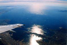 Aegean Sea from the window, #Greece. #plane #travel