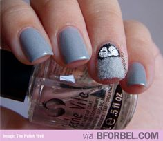 b for bel: FLUFFY Penguin Nails. #cute #manicure