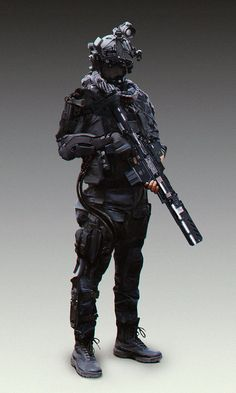 Jamming these Sci-fi/Cyberpunk based police units I did over the course of time, together. Base photo was taken from FashionSnap on which I did the good old photobash. Robot Concept Art, Armor Concept, Armadura Sci Fi, Tactical Armor, Combat Armor, Futuristic Armour, Military Special Forces, Sci Fi Armor, Future Soldier